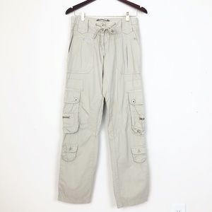 GAUDÌ Tan Multi-Pocket Drawstring Cargo Pants